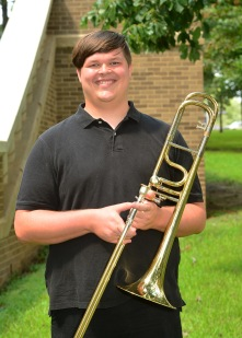 Jacob Samford is a senior music education major from Tenaha Texas. He has been in the Wind Symphony, Symphonic band, Swingin' Axes and Aces, The Lumberjack Marching Band, and Trombone Choir. He attended high school at Tenaha ISD where he was an ATSSB All-State trombonist for two years, as well as making state solo and ensemble. His favorite thing about being a music major is how nice and helpful the faculty are to students personal lives, as well as their professional careers.