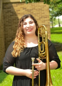 Jessie is a senior music education major from Plano, Texas. She is currently in her student teaching semester.She has been a member of the SFA Wind Symphony, Swingin' Aces, Roaring Buzzsaws, and a previous member of the Lumberjack Marching Band. Jessie has enjoyed her time at SFA because of the incredible staff and students who have always been welcoming and open to everyone within the program. She enjoys challenging herself every day with complex music and is excited to take all of the knowledge she has learned from SFA and apply it to teaching within the school systems.