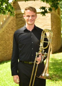 Patrick Johnson is a third-year music education major from Katy, Texas. He is a member of the SFA Wind Ensemble, Orchestra of the Pines, and the SFA trombone Quartet. Early last summer he was invited to play alongside the Longview Symphony Orchestra in their outreach program in Longview ISD. He is from Mayde Creek High School, where he was a section leader for the Mighty Ram Band and was also presented with the John Philip Sousa Award. His future plans include becoming a high school director back in his hometown, as well as continuing his studies in trombone pedagogy. His favorite thing about Nacogdoches is spending his time with his friends and faculty, as well as playing in the Roarin' Buzzsaws pep band.