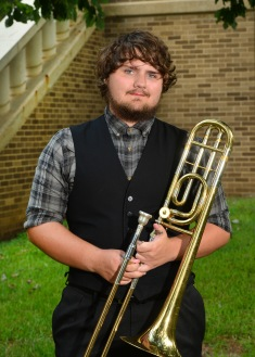 James Hall is a junior music education major at SFA from Malakoff, Texas. He currently performs in the SFA Symphonic Band and the Lumberjack Marching Band. He attended Malakoff High School where he was low brass section leader his last three years.