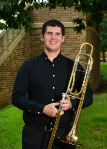 Tyler Phelps is a senior music education major from DeKalb, Texas. He has performed with the SFA Wind Symphony, Wind Ensemble, Orchestra of the Pines, Roarin' Buzzsaws, and the Lumberjack Marching Band in his time at SFA. He is a member of the national honorary band fraternity Kappa Kappa and also one of the band managers employed by our band department, and he enjoys doing whatever he can to help out the band program. He enjoys everything the faculty at SFA have done to help become a better player and teacher!