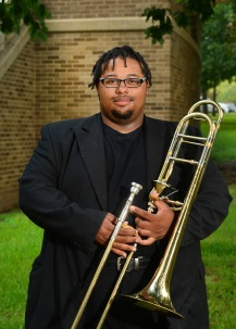 Kahlil Burley-Wyatt is a junior music education major from Duncanville, TX. In his 4 years at Duncanville High School Kahlil advanced to 6A Area twice and ultimately worked his way to the TMEA All-State Symphony Orchestra where he placed 6th overall in the state of Texas. Wyatt currently plays tenor trombone for the SFA Symphony Orchestra, the Swingin' Axes, and has the honor of serving as bass trombone squad leader of the LMB and as principal of the SFASU Wind Ensemble under Dr.David Campo. Wyatt also leads the SFA Trombone Quartet. Wyatt aspires to be a professional trombonist and is looking forward to the continued achievement of excellence at SFASU.