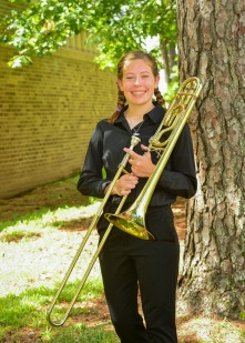 Erin Michaels is a junior math major at SFA from Schertz, Tx. She has performed with the Symphonic Band, Lumberjack Marching Band, Trombone Choir, and the Roaring Buzzsaws Pep Band. She is also a member of Kappa Kappa Psi, a music service fraternity. After graduation she hopes to be a high school math teacher. She loves the sense of community that SFA has. This sense of community has allowed her to form long lasting friendships, especially with those in the trombone choir.