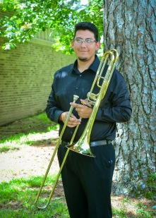 Eliazar Yanez is a Sophomore Music Education Major at Stephen F. Austin State University. He has performed in many different ensembles including Wind Symphony, Symphonic Band, and currently with the Sophomore Quartet. He is also in jazz band where he played for the Swingin' Aces and is in the Lumberjack Marching Band. Eliazar attended Nacogdoches High School and has received multiple solo & ensemble awards and has earned multiple places in the UIL All-Region 21 competition. One of his favorite memories at SFA was his first time soloing in a performance in jazz band, it was a major break-through for his confidence in playing.