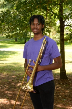 Douglass Jones is a freshmen music education major at SFA from Dallas, Texas. He currently performs in the Lumberjack marching band and Swingin' Axes. He attended Bryan Adams High School where he was the assistant drum major and received the outstanding bandsmen award. Upon graduation, he plans to teach in a middle or high school music department. His favorite thing about studying at SFA is the gain in knowledge and friendships.